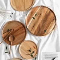 wood sushi dinner plate wooden serving tray decorative japanese snack fruit dessert salad plate kitchen dinnerware tableware set