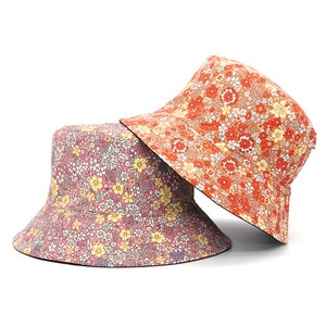 New Fairy Floral Fisherman Hat Women's Hat Bucket Hat Pastoral Style Spring and Summer Outdoor Sun Hat Wild Basin Hat