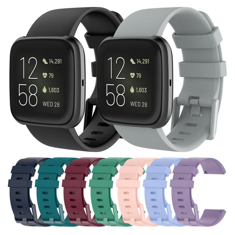 For Fitbit Versa 2 / LITE Watch Band Replacement Silicone Bracelet Wrist Strap Sport Smart Accessories Strap high quality comfortable silicone replacement wrist watch band for polar v800 smart bracelet with tool smart watch strap