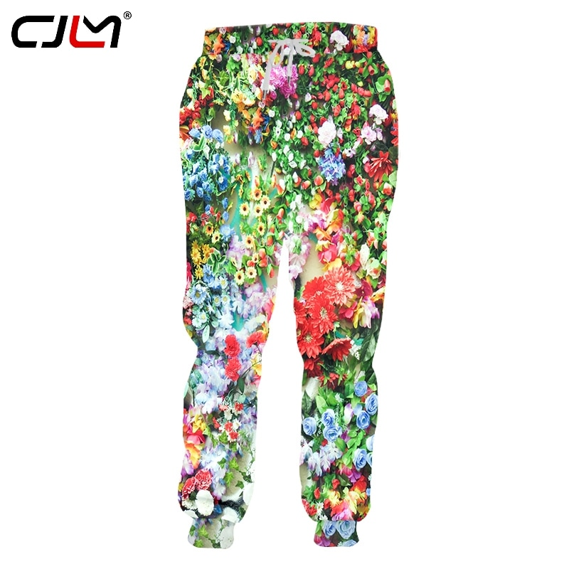 CJLM Spring And Autumn New Style Man Oversized 5XL 3D Printed Funny Flowers beautiful Trousers Leisure Lovely Sweatpants