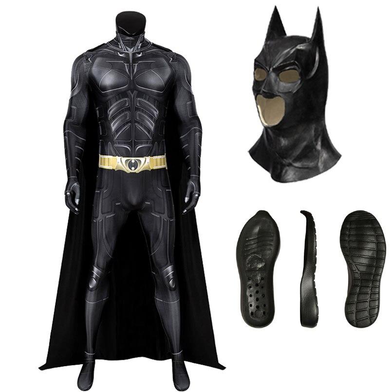 Carnival Halloween Superhero Cosplay Bruce Jumpsuit Fancy hero Bat Wayne Zentai Adult Men Costumes 3D Printing Bodysuit недорого