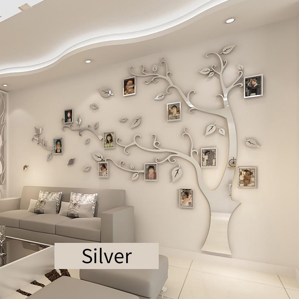 Marco de foto árbol 3D pegatinas de pared Sala sofá fondo decorativo pegatinas de pared de fotos pegatinas de pared caliente decoración del hogar