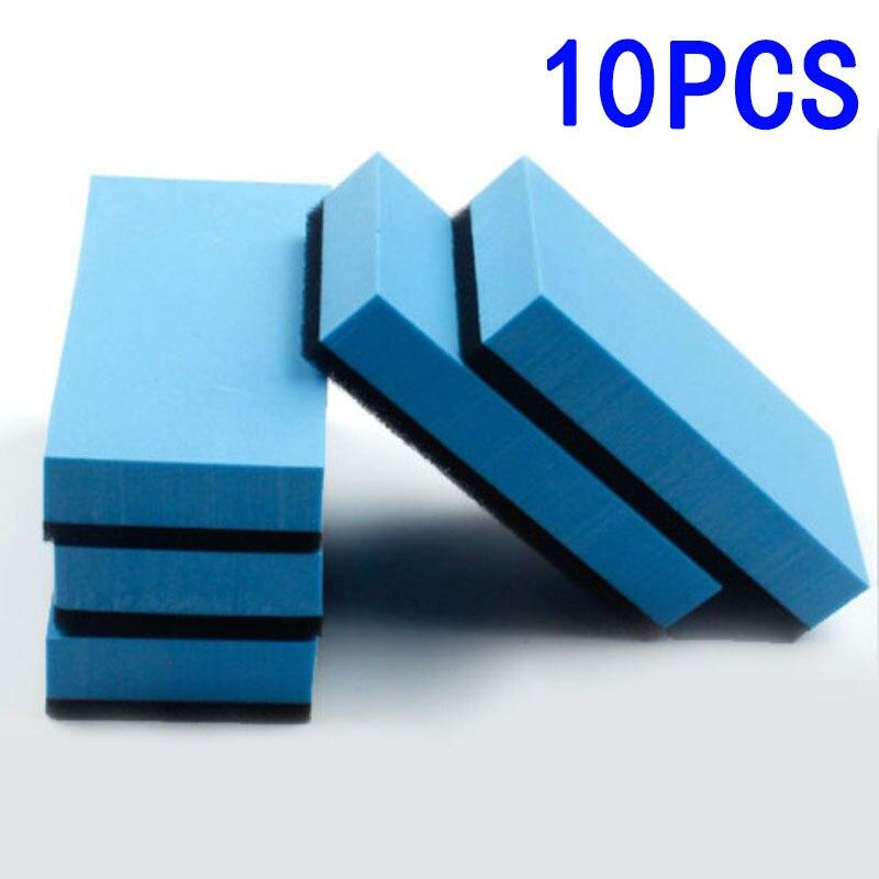 10 шт., автомобильные нано-восковые губки, 7,5x5x1,5 см