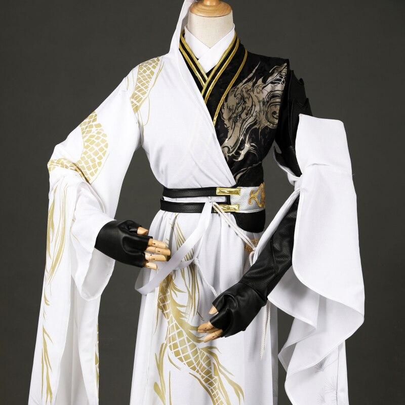2020 nuevo Mo Dao Zu Shi Cosplay Hanfu trajes para hombres chino trajes de Baile Folclórico China antigua Cosplay Hanfu traje