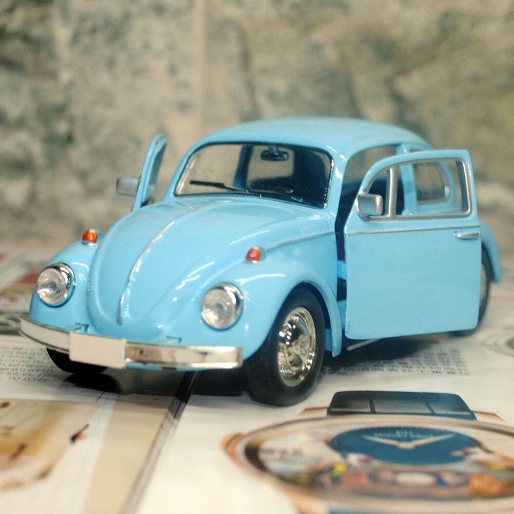 Novo modelo de carro flexível brinquedo liga borracha do vintage besouro diecast puxar para trás modelo de carro brinquedo para crianças presente decoração bonito
