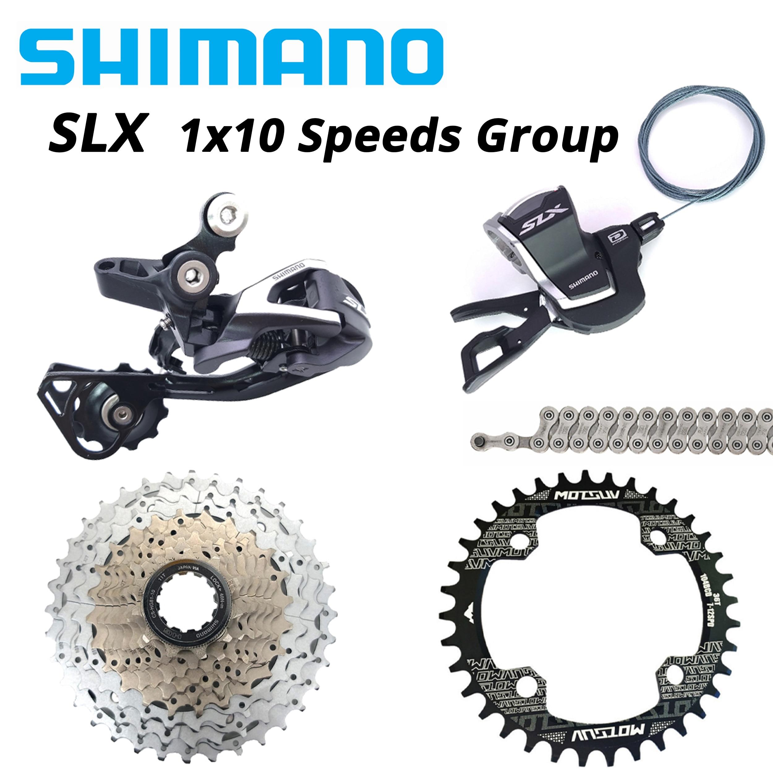 Shimano slx 1x10s 10 s 10 velocidade groupset rd-m670 sl m7000 HG81-10 11-36t CN-HG95 kmc x10 sol 11-42t 46t 50t corrente