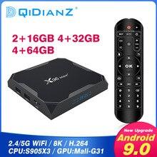 2020 X96 Max plus Android 9,0 Smart tv box Amlogic S905X3 Quad Core 32GB 64GB android tv Set top-Box Media Player pk x96 mini
