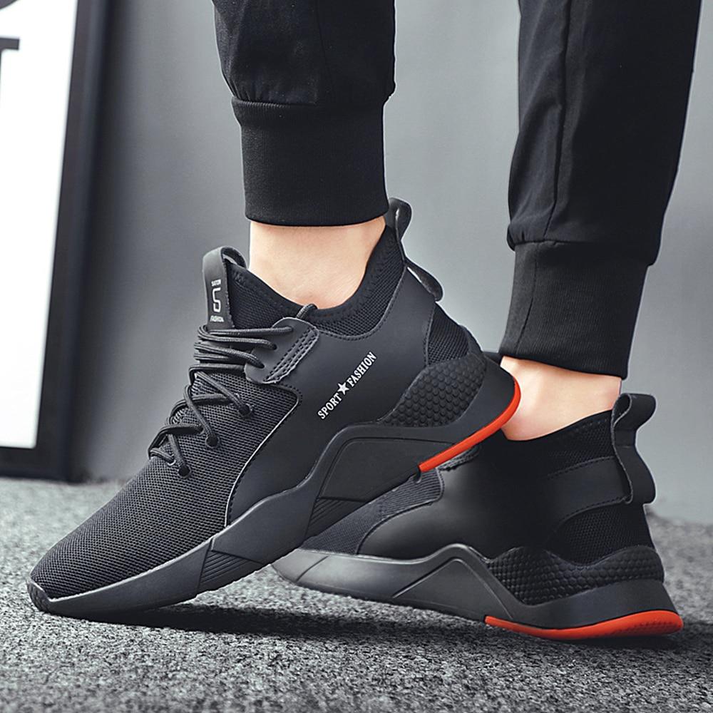 Zapatos Deportivos Retro transpirable malla refrescante cómoda y estable para hombre Baideng zapatos de correr de hombre baratos zapatillas de deporte para hombre tendencias zapatos Deportivos cómodos zapatos para caminar ultraligeros negros para hombre