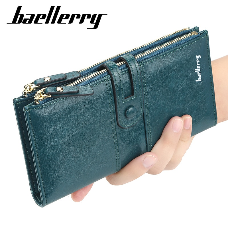 Fashion Women Wallets Long Top Quality Leather Card Holder Classic Female Purse  Zipper Brand Wallet For Women