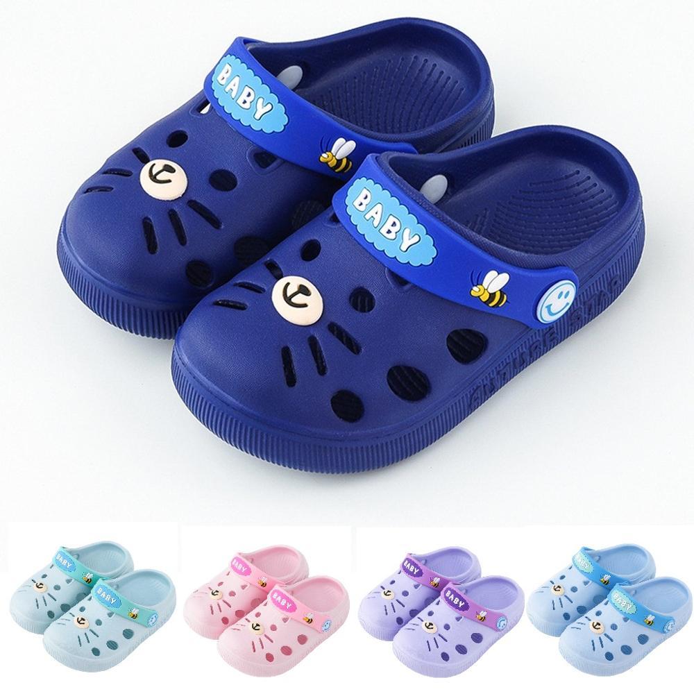 Verano bebé Infante gato de dibujos animados lindas Zapatillas de casa de moda niños niñas imprimir piso Zapatos Niños playa zapatos ciabatte bimba