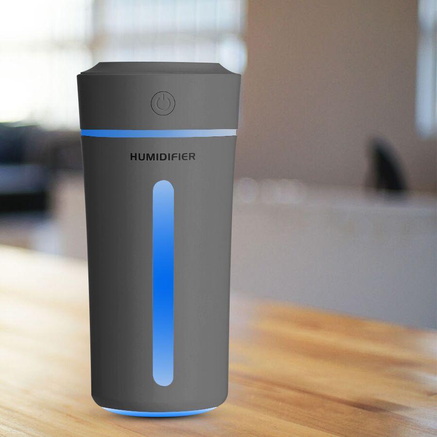 Humidificador de aire USB para coche, difusor ultrasónico de aceites esenciales, difusor de humidificador eléctrico de aromaterapia con 7 colores de luces cambiantes