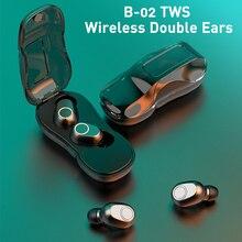 B02 TWS casque sans fil Bluetooth V5.0 écouteurs réduction de bruit Active Mini écouteurs intra-auriculaires casques avec boîtier de charge micro
