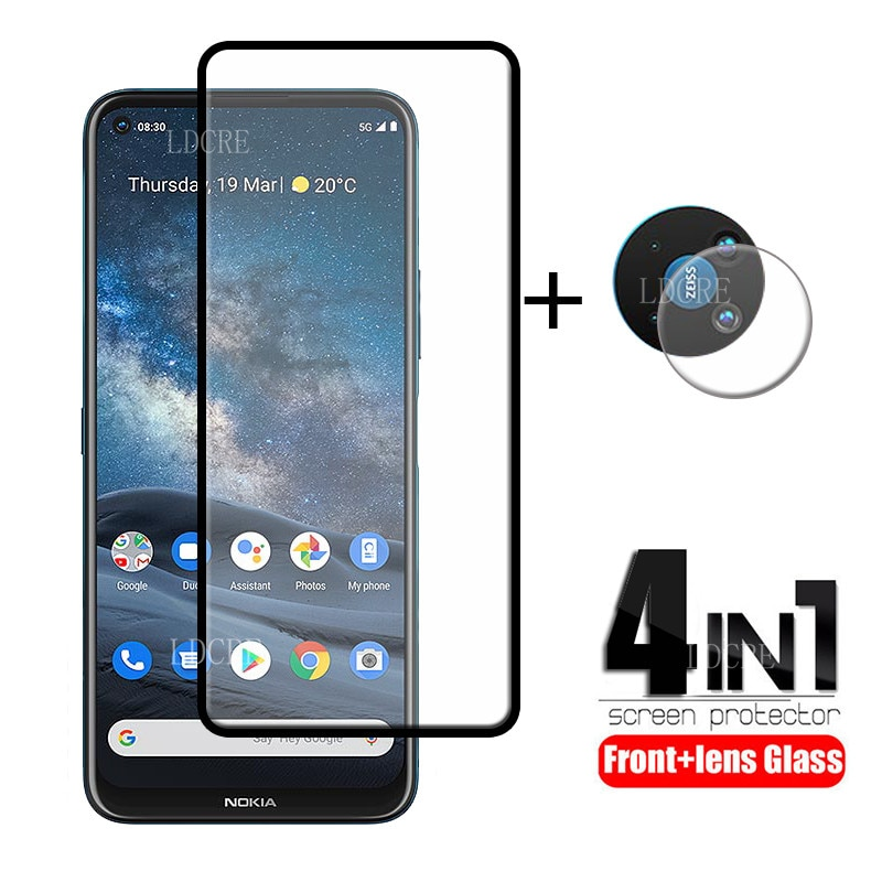 4-in-1 For Nokia 8.3 Glass For Nokia 8.3 Tempered Glass Screen Protector Protective Camera Film For Nokia 6.2 7.2 8.3 Lens Glass