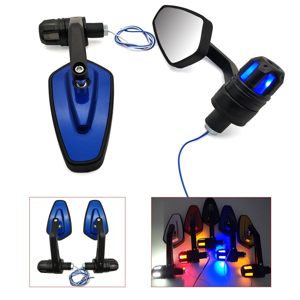 Para Yamaha TMAX 500 530 t max 500 530 XP500 XP530 xp 530 accesorios para espejos retrovisores de motocicleta con luz LED de intermitente