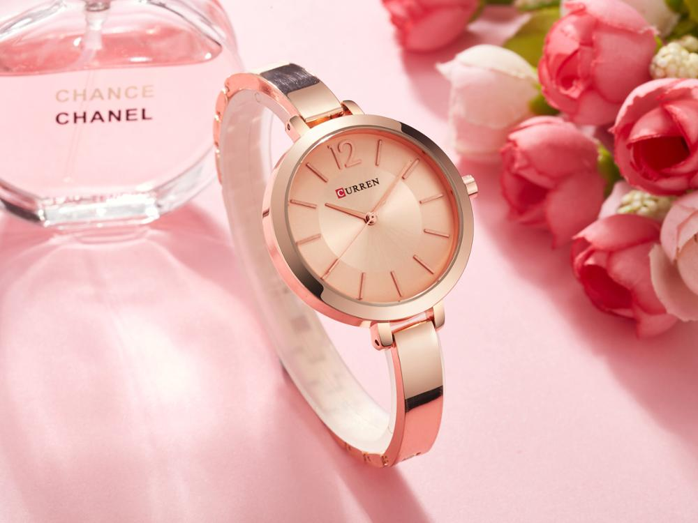 CURREN Ladies Watches Fashion Romantic Women Watches Ultra Thin Stainless Steel Water Resistant Exquisite Casual Quartz Watches enlarge