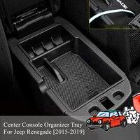 Car Central Armrest Box Car Center Console Armrest Box Glove Box Secondary Storage For Jeep Renegade 2015 2016 2017 2018 2019
