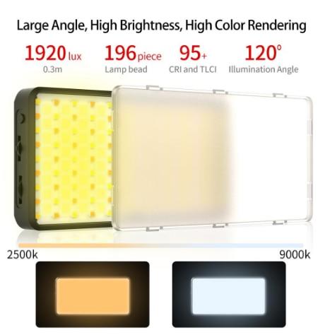 Ulanzi VIJIM VL196 RGB LED Video Light 12W PD Fast Charging DSLR Smartphone Fill Light Dimmable RGB Effect Vlog Light On Camera enlarge