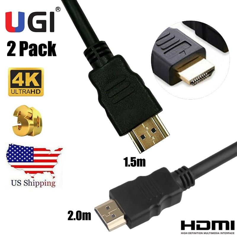 UGI Stock Pack de 2 1,5 m 2m 4K 2K 1080P compatible...