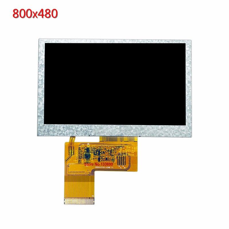 4.3 polegada 800*480 800x480 pixels tft display sem toque ips tela rgb porto para 3c dispositivo digital