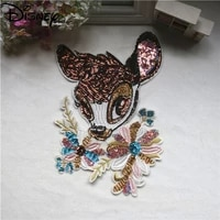 disney fashion new 2021 embroidered thread sequin cloth patch simple cartoon animation clothing accessories patch cloth patch