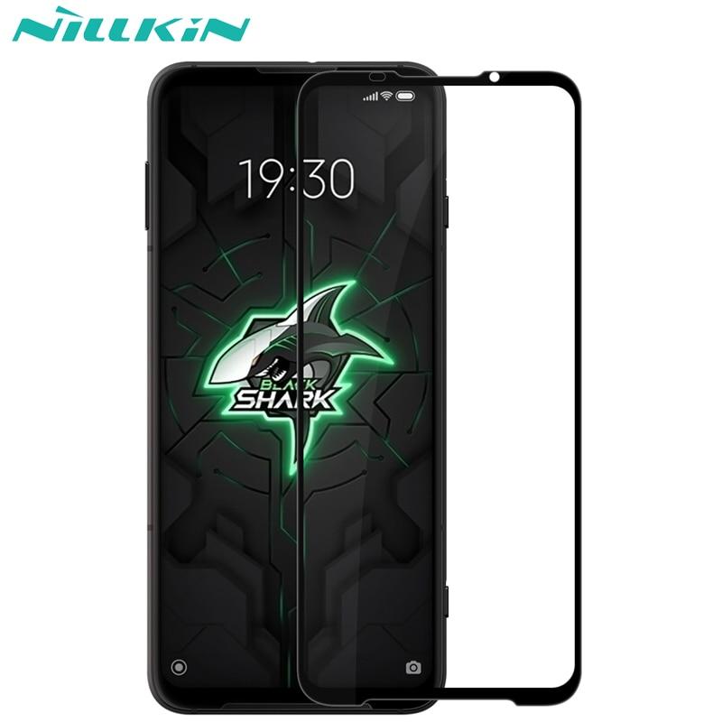 Protector de pantalla para Blackshark 3 Pro cristal templado Xiaomi negro tiburón 3 Pro Nillkin Anti-explosión CP + 2.5D de la cubierta completa de vidrio