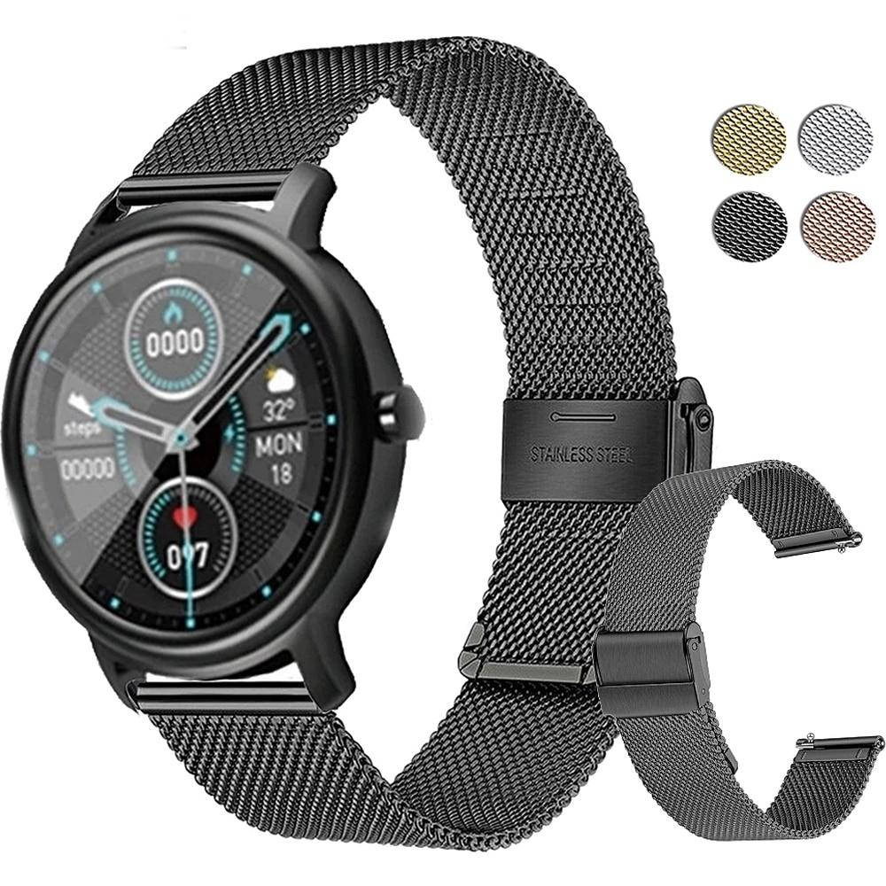 Pulsera de Metal para reloj inteligente Xiaomi Mibro Air, pulsera de acero inoxidable de 20MM, accesorios de Correa de Color MiBro