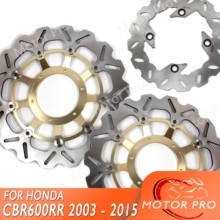 Disque disque Rotor pour HONDA CBR600RR   2003-2015, Kit de disque frein arrière avant, moto CBR 600 CBR600 2009 2010 2011 2012 2013 CBR1000RR