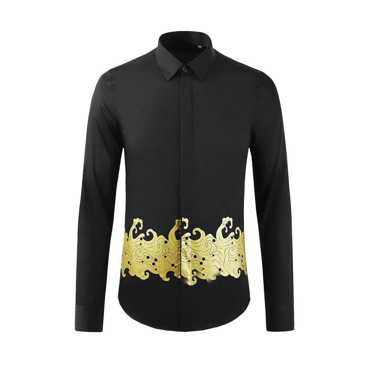 قميص قطني كلاسيكي مموج للرجال ، طباعة مموجة عالية الجودة ، أكمام طويلة غير رسمية ، أزياء ، مقاس M ، L ، XL ، 2XL و 3XL ، مجموعة جديدة