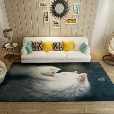 سجادة غرفة المعيشة على شكل حيوانات كرتونية ، 200 × 300 سنتيمتر ، سجادة غرفة نوم للأطفال/كرسي كمبيوتر ، سجادة أرضية