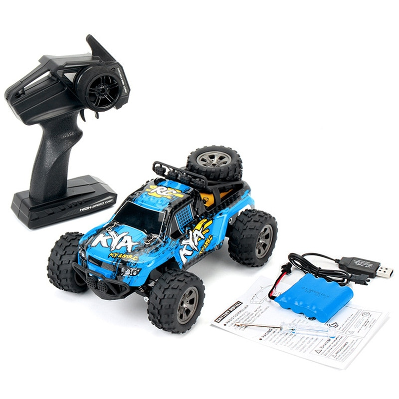 4WD 1/18 2,4G todoterreno RC coche de juguete de alto rendimiento antideslizante neumático 18 km/h coche de juguete de alta velocidad 2,4 GHz coche de Control remoto inalámbrico