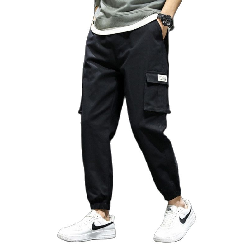 Men's Black Pants Men Casual Outdoor Pant Cargo Work Tactical Tracksuit Trousers Pocket Streetwear Hip Hop Harajuku Trousers 4XL bauskydd mens polycotton durable work trousers with eva knee pads black work pant workwear carperner pant men free shipping