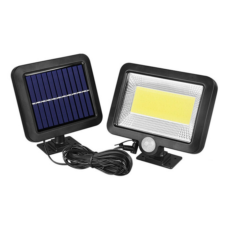 100 LED de energía Solar Sensor de movimiento reflector de jardín al aire libre PIR luz JA55