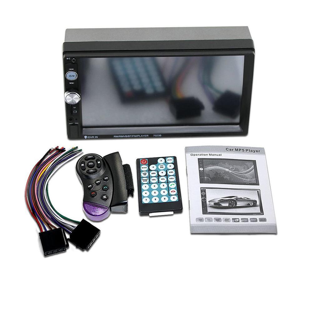 "New Universal 2 Din Car Multimedia Player Autoradio Car Stereo 7"" Touch Screen Video Mp5 Player Auto Radio Rearvi Camera"