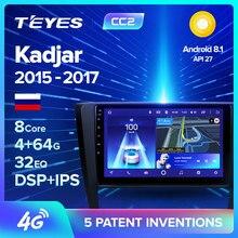 TEYES CC2 Renault Kadjar 2015-2017 Için Araba Radyo Multimedya Video Oynatıcı navigasyon gps Android Aksesuarları Sedan Hiçbir DVD 2 din