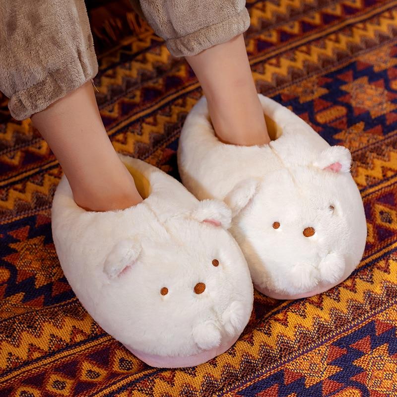 Sumikko Gurashi Chinelos Internos Urso Bonito Dinossauro Quentes Mulher Menina Unissex Não-deslizamento Presente Size36-42