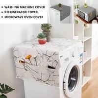 geometric refrigerator dust cover single door double door refrigerator cover cloth diamond printing washing machine cover towel