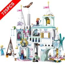 2020 neue Disneyingly Prinzessin Schloss Elsa Eis Schloss Prinzessin Anna Set Modell Bausteine Spielzeug Kompatibel Lepining Freunde