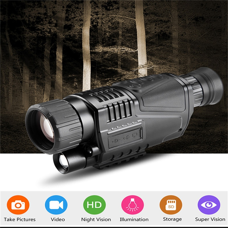 Night vision monocular Night Vision 5x40 Infrared Digital Night Vision Monocular + 8GB SD Card 200M Range Range