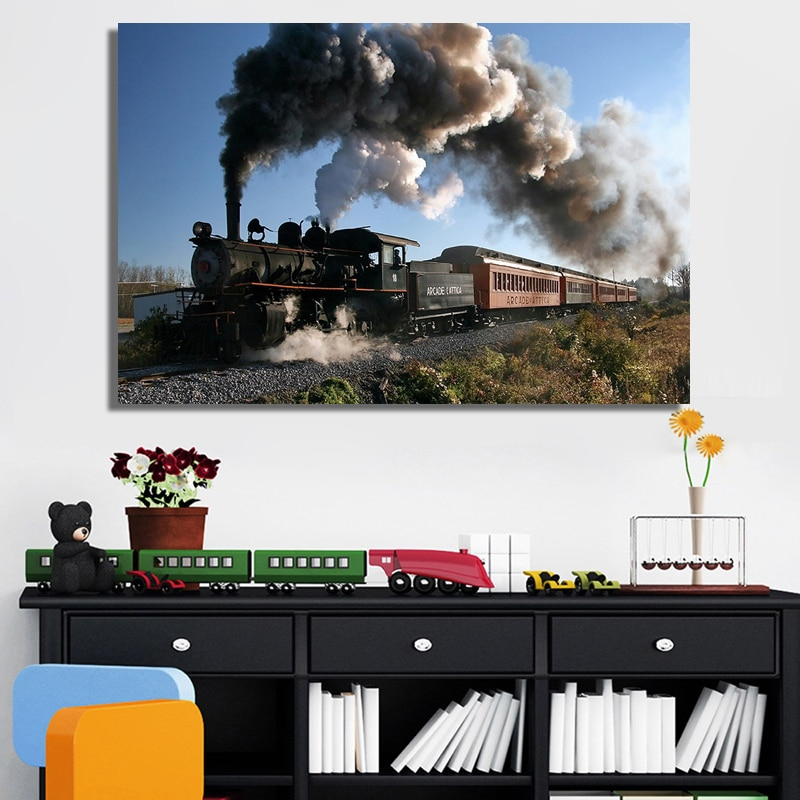 diy Handcraft Diamond Painting Classical Steam Locomotive Train Mosaic diamond Embroidery Full Square round drill for home art,