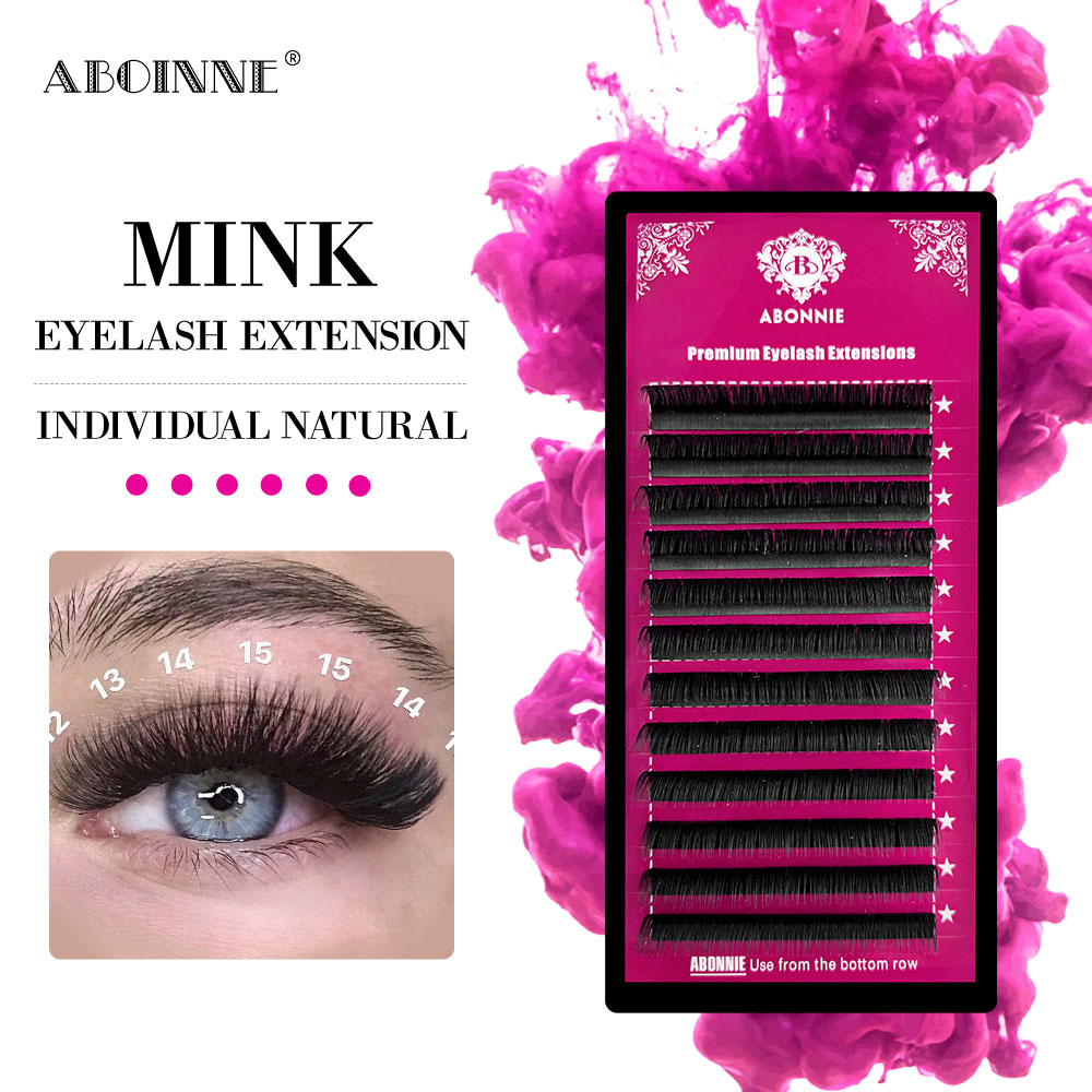 Abonnie Premium Handmade Silk Synthetic Eyelashes Extentions Volume Eyelash Extension Handmade Whole