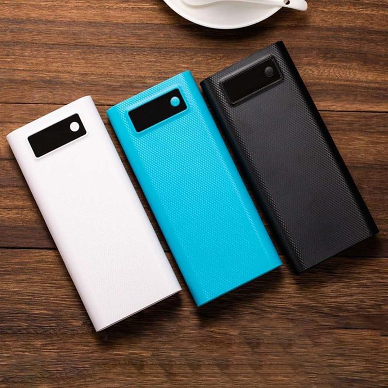 8x18650 caja del Banco de energía tipo C QC 3,0 caja del cargador de batería de soldadura rápida de dos vías caja de carga carcasa DIY Kit para IPhone Samsung