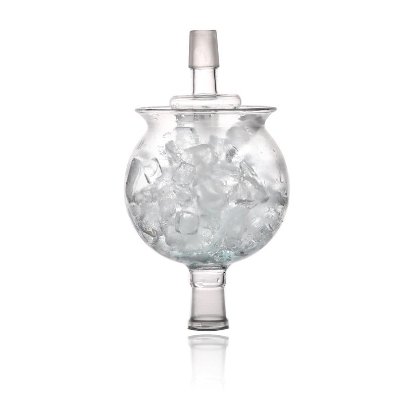 1 Juego de hookah shisha DIY hielo Bol narguile cabeza chicha elegante fit led arte pipa de agua