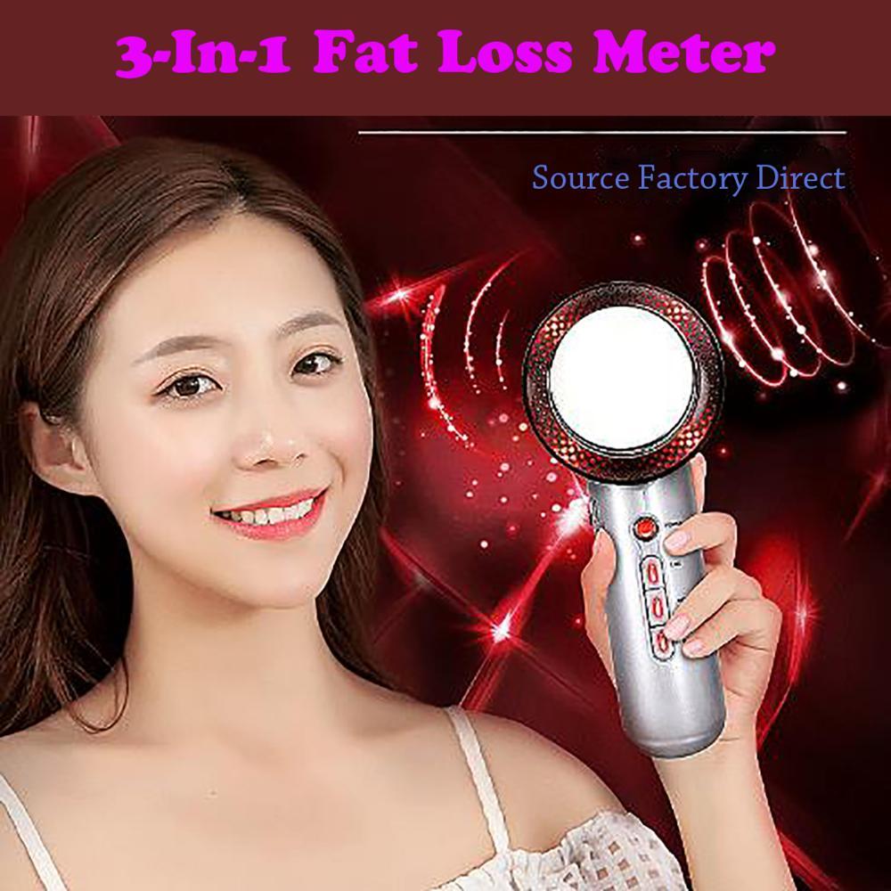 Instrumento de adelgazamiento multifunción de masaje de belleza EMS con Micro corriente 3 en 1 infrarrojo ultrasónico para pérdida de grasa y pérdida de peso