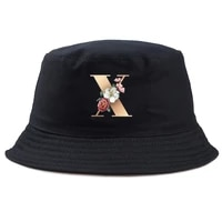 flowers 26 letter print sports outdoor peaked hat baseball cap fisherman hat sunshade breathable striped elastic womenmens hat