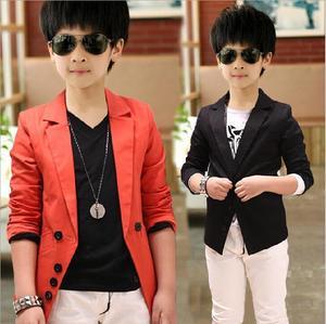 2021 Spring Casual Children's Suits Boys Coat Korean Style Long Sleeve Kids Blazers Boys Suits Children Jacket Boys Outerwear