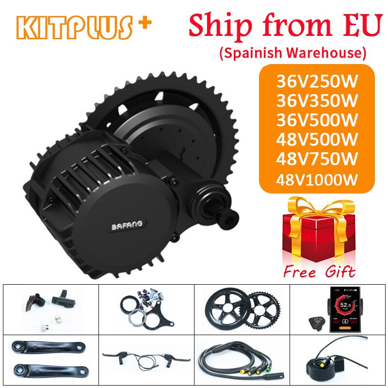 Bafang BBS01 BBS02 BBS03/BBSHD Mid Drive Motor 36V 250W/350W/500W 48V 500W/750W/1000W Electric Bicycle/Bike Ebike Conversion Kit