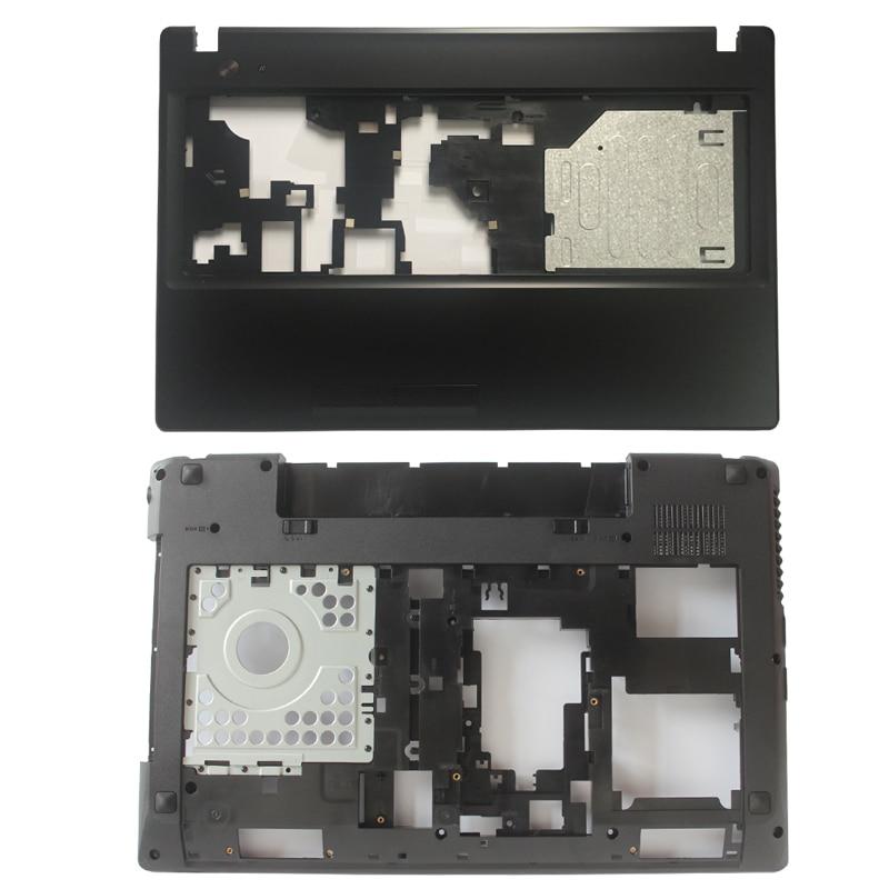 Novo para lenovo g580 g585 portátil palmrest capa ap0n2000324/inferior caso base capa com hdmi ap0n2000100