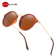 UVLAIK Vintage lunettes de soleil femmes hommes polarisé rond rétro Rivet cadre lunettes de soleil miroir lunettes de conduite lunettes UV400