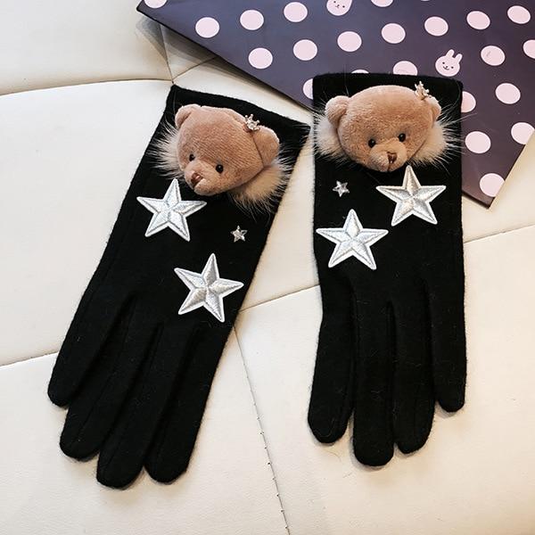 Handschoen-Guantes De Invierno para Mujer, De piel De visón, para mantener el...