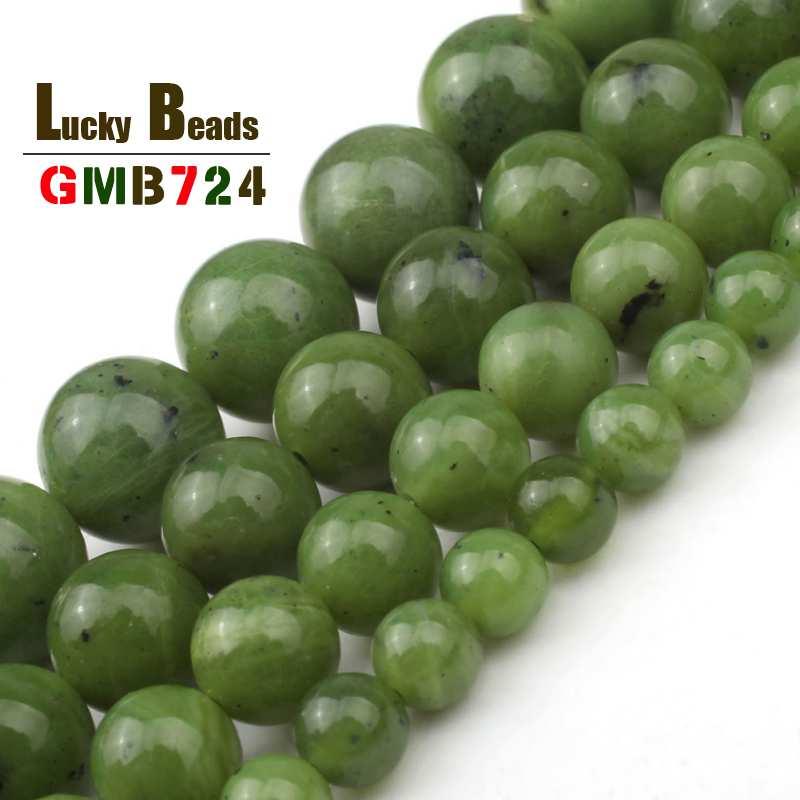 Natural canadense jades pedra contas redondas soltas contas para fazer jóias diy orelha studs pulseira acessórios 7.5 6 6/8/10/12mm